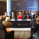 Federation of Small Businesses Banking Forum at Lynford Hall in Mundford. FSB members get their chan