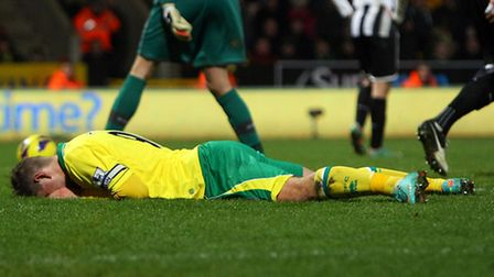 Grant Holt rues a missed chance against Newcastle United. Picture: Paul Chesterton / Focus Images