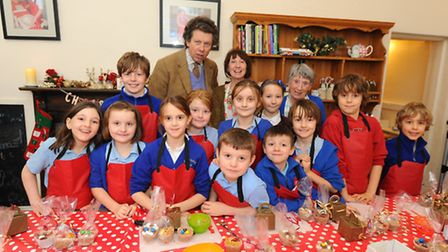 Truly Scrumptious Cookery Club for children at Thurlton Church Rooms.Sir Nicholas Bacon with Susan Y