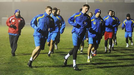 The Linnets at training on Thursday night. Picture: Ian Burt.