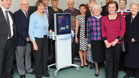 Presentation of the new Fibroscan device at the N&N hospital. Photo: Bill Smith