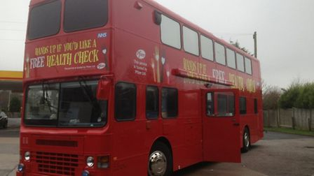 A health bus will be rolling into Norfolk from next week. Photo provided by Pfizer.