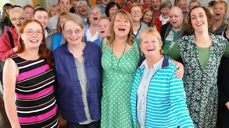 Members of the Sing Your Heart Out group who have just won the Queen's Award for Voluntary Service.