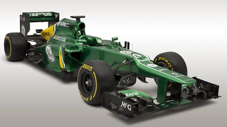 The Caterham CT03, unveiled in Jerez for the 2013 Formula One season.