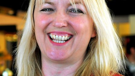 Dawn Hopkins was in Westminster yesterday. Here, she is pictured as landlady at The Rose. Photo: Bi