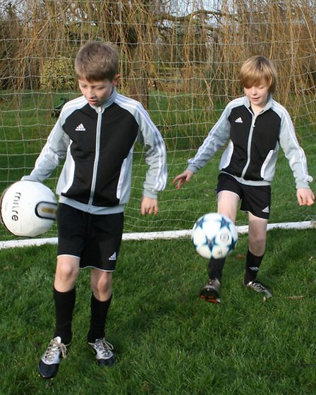 Harrison Tompkins, left, from Mendham, and Joe Collett, from Harleston, in action. They will be goin