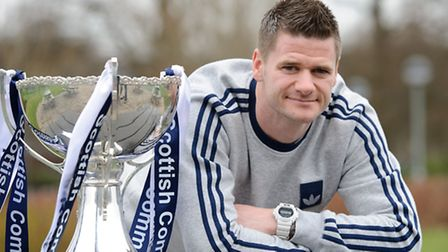 Up for the cup . . . again: Former Canary Michael Nelson played in last season's Scottish League Cup