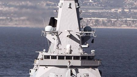 HMS Dauntless off the coast of Cape Town. Pictures: Leading Airman (Photographer) Nicky Wilson, HMS
