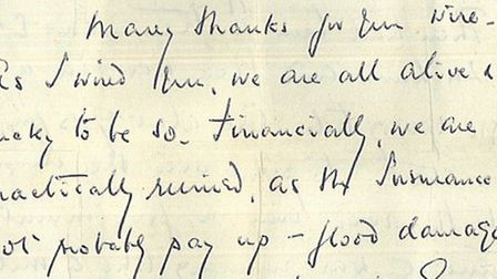 HISTORICAL: Extracts from a letter written on February 3 1953 from someone at the Dutch Barn in Sout