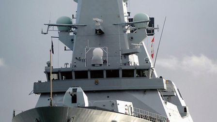 HMS Dauntless, the second of six formidable Type 45 air defence warships being built for the Royal N