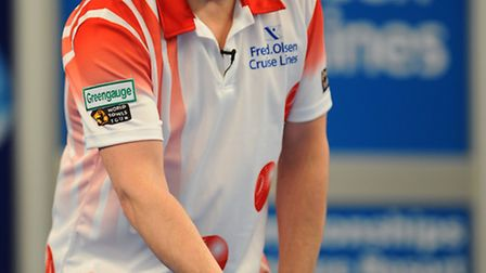 World number one Greg Harlow fell in the first round to Scotland's Colin Walker at Potters yesterday