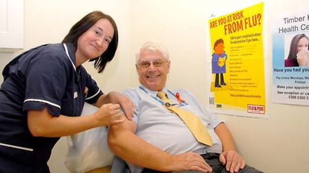 Health champion Patrick Thompson, who is urging everyone who is eligible to have the flu jab.