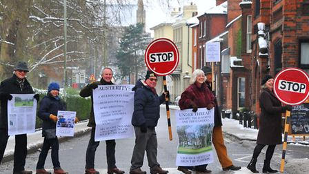 Campaigners against proposals to change the road layout in Norwich city centre come together to prot