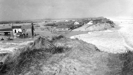 Floods 1953 - Sea PallingSea Palling was crushed when the sea broke a 100-yard gap in its protecti