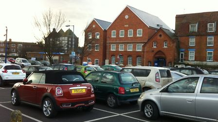 No snow here! Cars in Howard Street South car park in the town are completely snow free, as are the