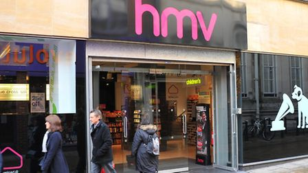 The Norwich HMV store on the corner of Gentleman's Walk and Davey Place.PHOTO BY SIMON FINLAY