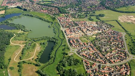 Picture shows: Aerial view of Bowthorpe, Norwich. June 2005 Picture by: Mike Page
