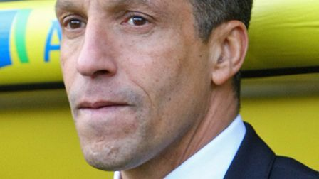 Chris Hughton has had to field questions over Norwich City's relative lack of goals for the majority