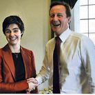 Chloe Smith, MP for Norwich North,with prime minister David Cameron. Photo: Tim Ireland/PA Wire