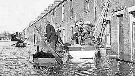 Cobholm pictured during the floods