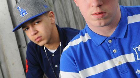 Rappers Aidan Wright (right) and Elliot Mace (left) who are aiming to play at Latitude this year.Pic