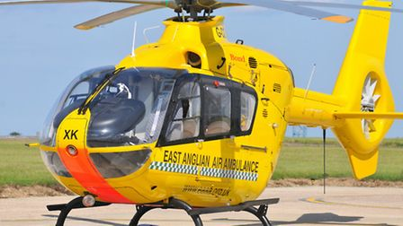 The East Anglian Air Ambulance was called to Kelling today.