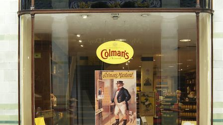 The modern Colman's Mustard shop is in Norwich's Royal Arcade, but began life in 1973 in Bridewell A