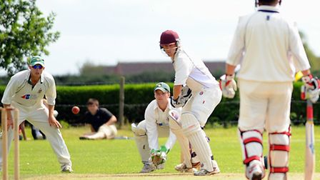 Olly Stone, pictured batting for Vauxhall Mallards in the 2011 Carter Cup final, helped lead England