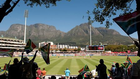 Test match venue Newlands, in Cape Town, where Olly Stone is leading the England Under-19s in the fi
