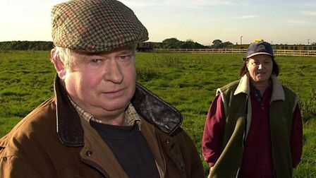 Farmer Tim Wyatt, and his wife Anne, unhappy at the two-way slip road planned at the Snetterton jun