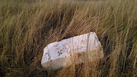 A polystyrene box on the marshes