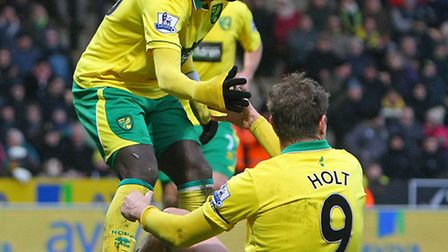 The arrival of Kei Kamara could be beneficial for Norwich City skipper Grant Holt. Picture: Paul Che