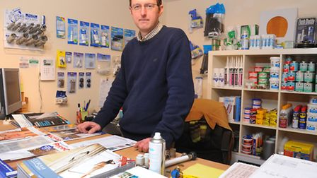 Simon Bishop who has opened up Wymondham Plumbing Supplies after becoming unemployed. Photograph Sim