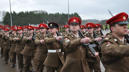 The medal ceremony at Robertson Barracks at Swanton Morley, the home of the Light Dragoons. Picture: