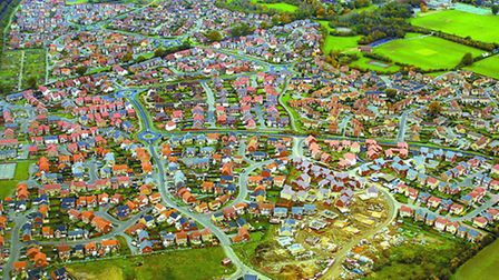 One from the archive: An aerial view showing houses and development in Dussindale, on the outskirts