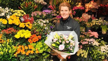 Katja Garbe at Petals in Norwich where she has seen the price of flowers and blooms increase in the