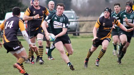 Leaders North Walsham on their way to an impressive 38-32 victory at Ipswich last Saturday.