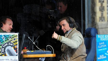 Alan Partridge star Steve Coogan continues filming of his new film in Norwich.