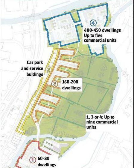 Deal Ground proposed development areas.