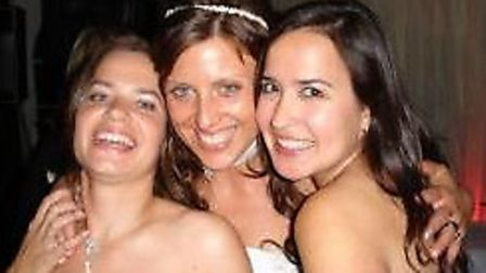 Rachel Lane, left, with Katie Thouless Kingsley (middle) and her sister, Amanda Lane (right)