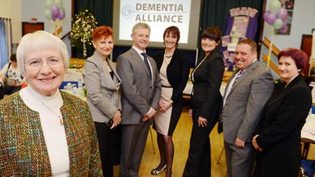 The Norfolk & Suffolk Dementia Alliance launch at Manorcourt Centre in Griston - From left, Barbara Pointon MBE, with...