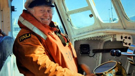 SEAMAN: Tommy Knott, who died last week aged 94, spent 22 years as part of the crew of Lowestoft Li