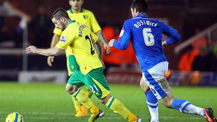 Jacob Butterfield's last Norwich City appearance came in the FA Cup third round win at Peterborough.