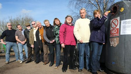 Aylsham town councillors are unhappy that the Station Road bottle banks are to be temporarily remove