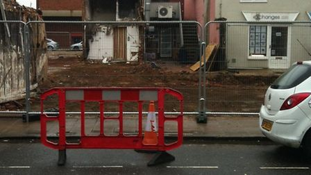 Demolition work has been completed on the former Pact charity shop in Dereham.