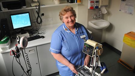 Anita Hastings, staff nurse at the NNUH, who has been nominated for the flu fighter champion award.