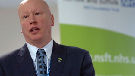 Aidan Thomas, Chief Executive of the Norfolk and Suffolk mental health trust at Mariner House in Ips