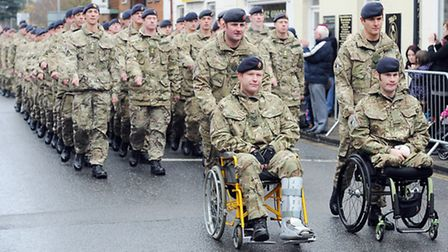 Scenes from the Light Dragoons Home Coming Parade through Dereham. Picture: Matthew Usher.
