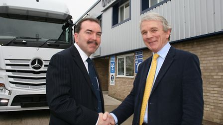 Imperial Holdings' UK managing director, Ian Oakes, left, with David Grant, managing director and fo