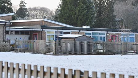 Worlingham Primary school was closed due to the bad weather.